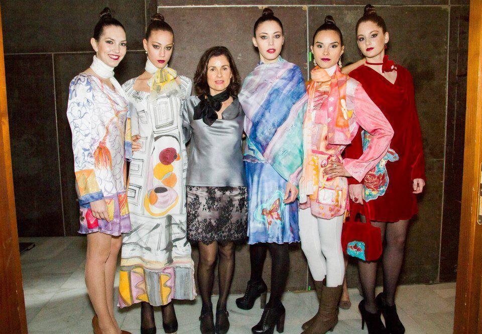 Ruth de la Puerta en Valencia Fashion Week.ハポネスカの共同者はバレンシア市ファッション大会で。