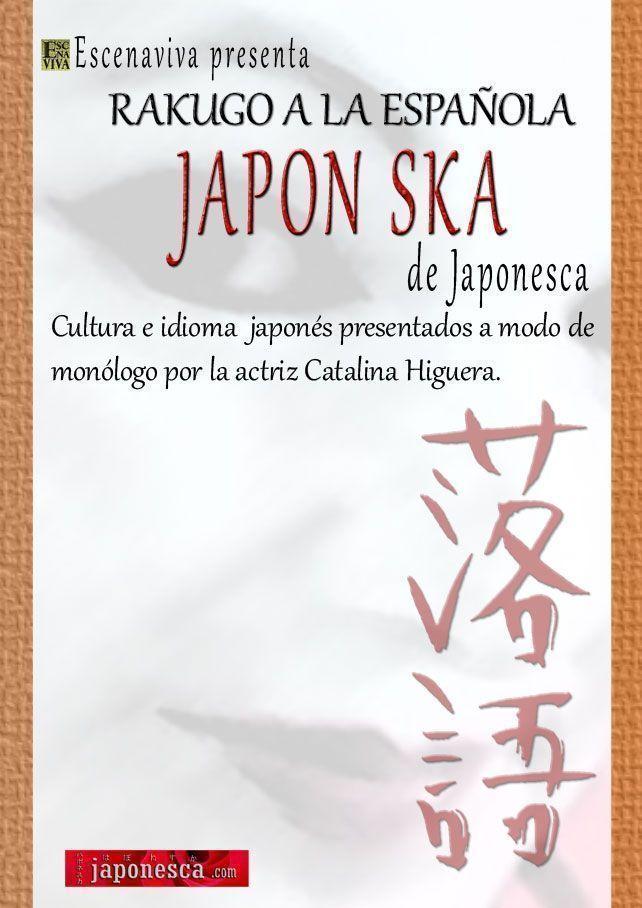 Cartel de Rakugo a la española, monologo de Japonesca