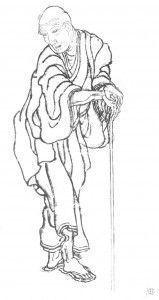 Autorretrato del Katsushika Hokusai, el gran maestro de Ukiyoe.