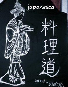 Recreación de Hokusai con esta mujer en kimono.