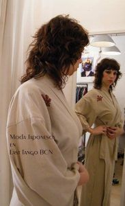 yujata o bata japonesa en algodón beige