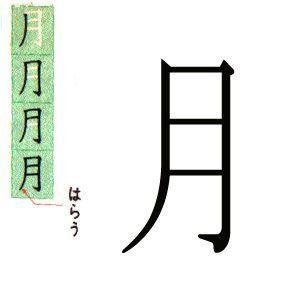 KANJI JAPONES DE JAPONESCA: LUNA, 月