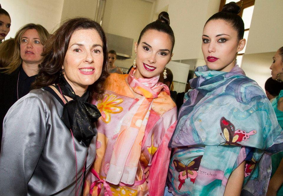 Ruth de la Puerta en Valencia Fashion Week.ハポネスカの共同者はバレンシア市ファッション大会で