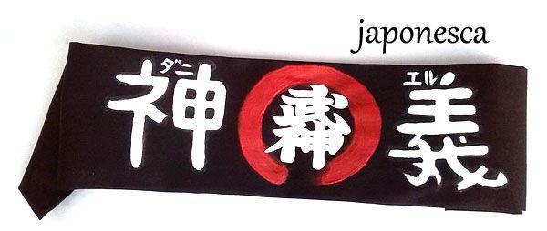hachimaki con el nombre de Daniel