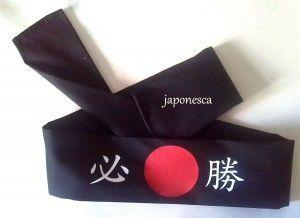 """Hachimaki típico japonés: Hisshou: """"Necesidad de victoria"""""""