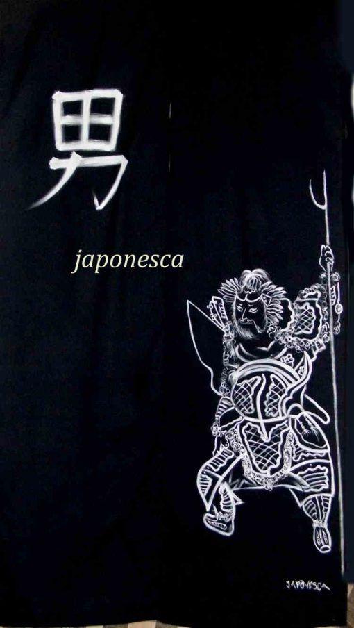 cortina japonesa noren para zona de caballeros