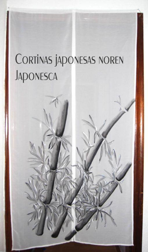 Cortina japonesa noren con smie de bambu