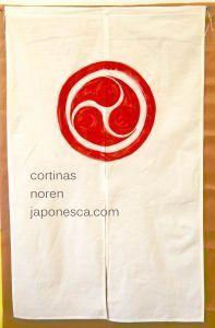 cortina noren simbolo japones mitsutomoe