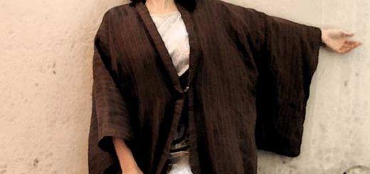Chaqueta de kimono haori de lino multitalla