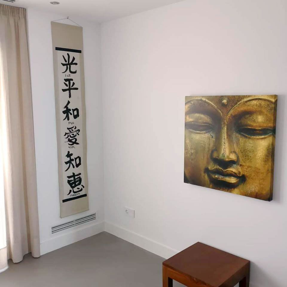 decoración zen con caligrafia shodo por Japonesca
