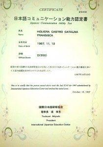 Diploma de Japonesca