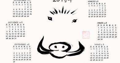 Calendario 2019 Japonesca