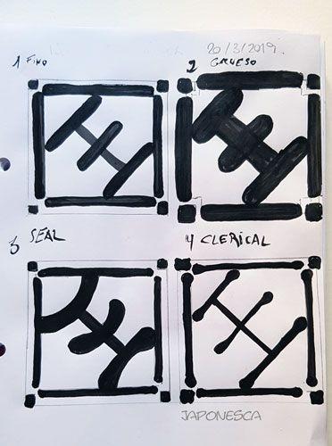 ejemplos de diseño de sellos japoneses