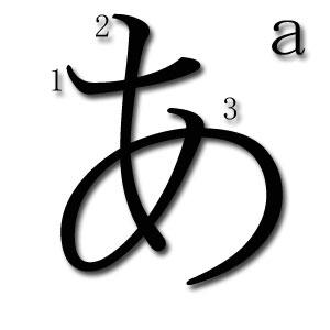 a en hiragana